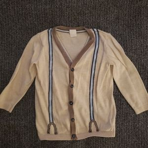 ❤SALE boys H&M cardigan with fake suspenders